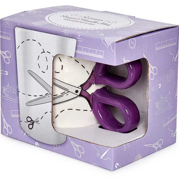 Sewing Scissor Mug - Purple