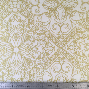 Rejoice Metallic - Trellis - Cream