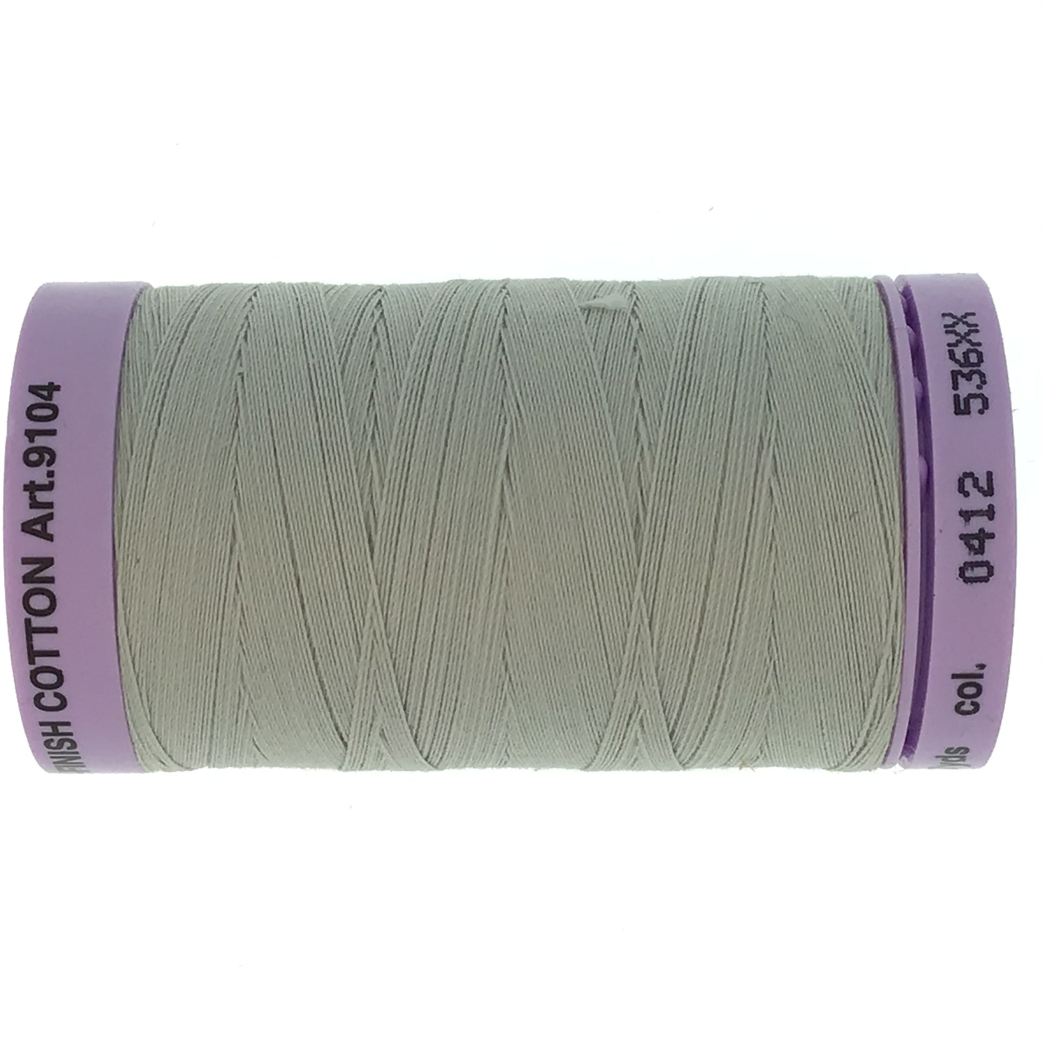 Mettler Cotton 50wt Thread - 500mt - 0412 - Silver Grey