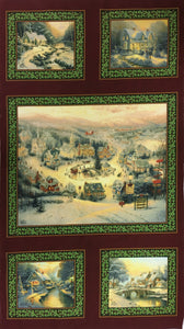 Thomas Kinkade - Spirit of Christmas - Panel
