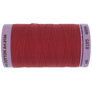 Mettler Cotton 50wt Thread - 500mt - 0105 - Cherry Red