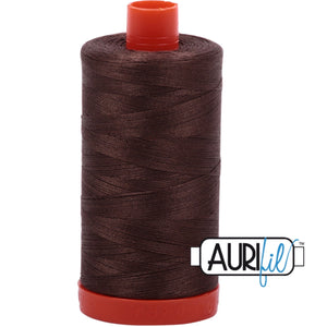 Aurifil Cotton 50wt Thread - 1300 mt - 1140 - Bark