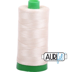 Aurifil Cotton 40wt Thread - 1000 mt - 2310 - Light Beige