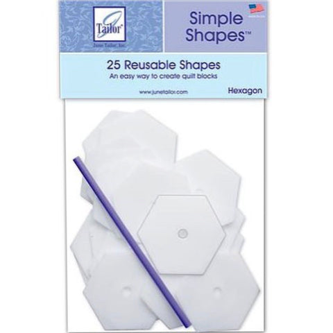 Simple Shapes -  Hexagon - 1""