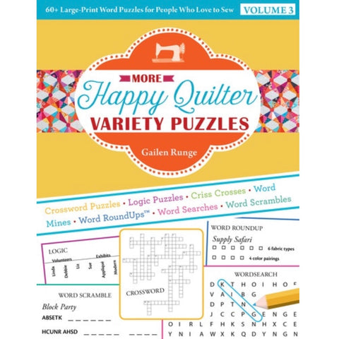 More Happy Quilter Variety Puzzles - Volume 3