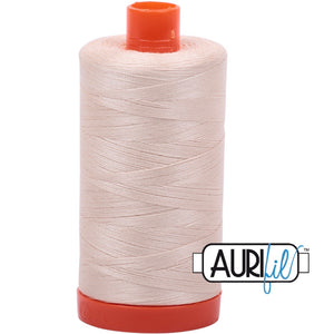 Aurifil Cotton 50wt Thread - 1300 mt - 2000 - Light Sand