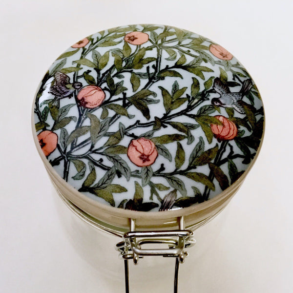William Morris Clip Top Jar - Pomegranate
