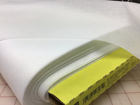 Interfacing - Lightweight - Non-woven - Sew-in - White - 20""
