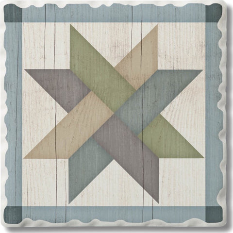 Absorbent Stone Coaster - Weave Star
