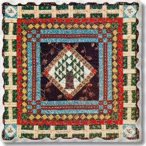 Absorbent Stone Coaster - Quilt 9