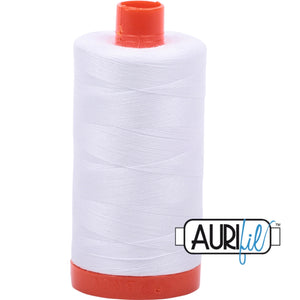 Aurifil Cotton 50wt Thread - 1300 mt - 2024 - White