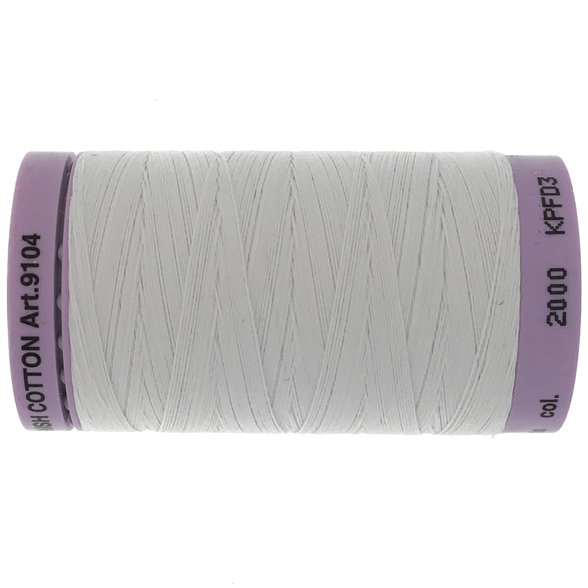 Mettler Cotton 50wt Thread - 500mt - 2000 - White