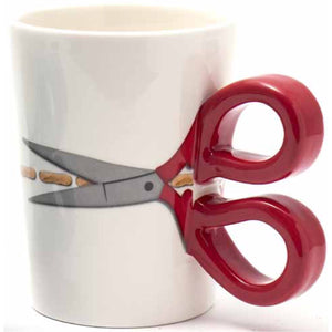Sewing Scissor Mug - Red