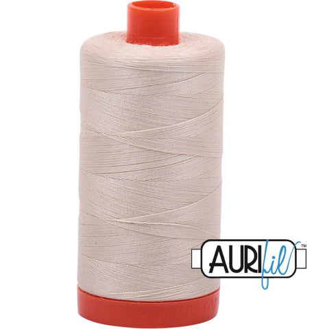 Aurifil Cotton 50wt Thread - 1300 mt - 2310 - Light Beige