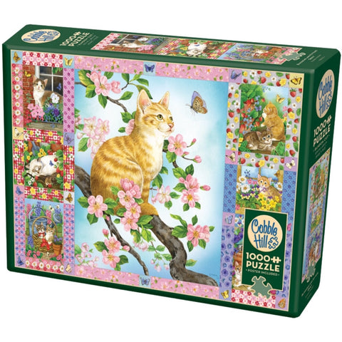 Blossoms and Kittens Quilt 1000 Piece Puzzle