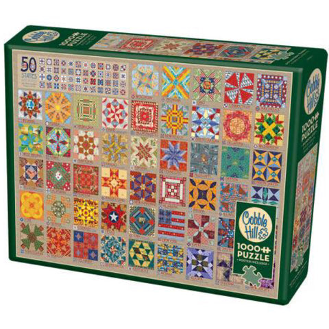 50 States Quilt Blocks 1000 Piece Puzzle
