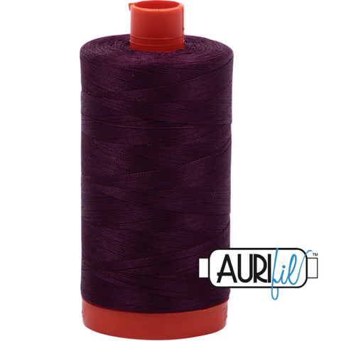 Aurifil Cotton 50wt Thread - 1300 mt - 1240 - Very Dark Eggplant