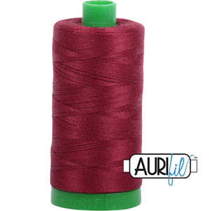 Aurifil Cotton 40wt Thread - 1000 mt - 2460 - Dark Carmine Red