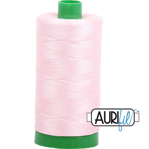Aurifil Cotton 40wt Thread - 1000 mt - 2410 - Pale Pink