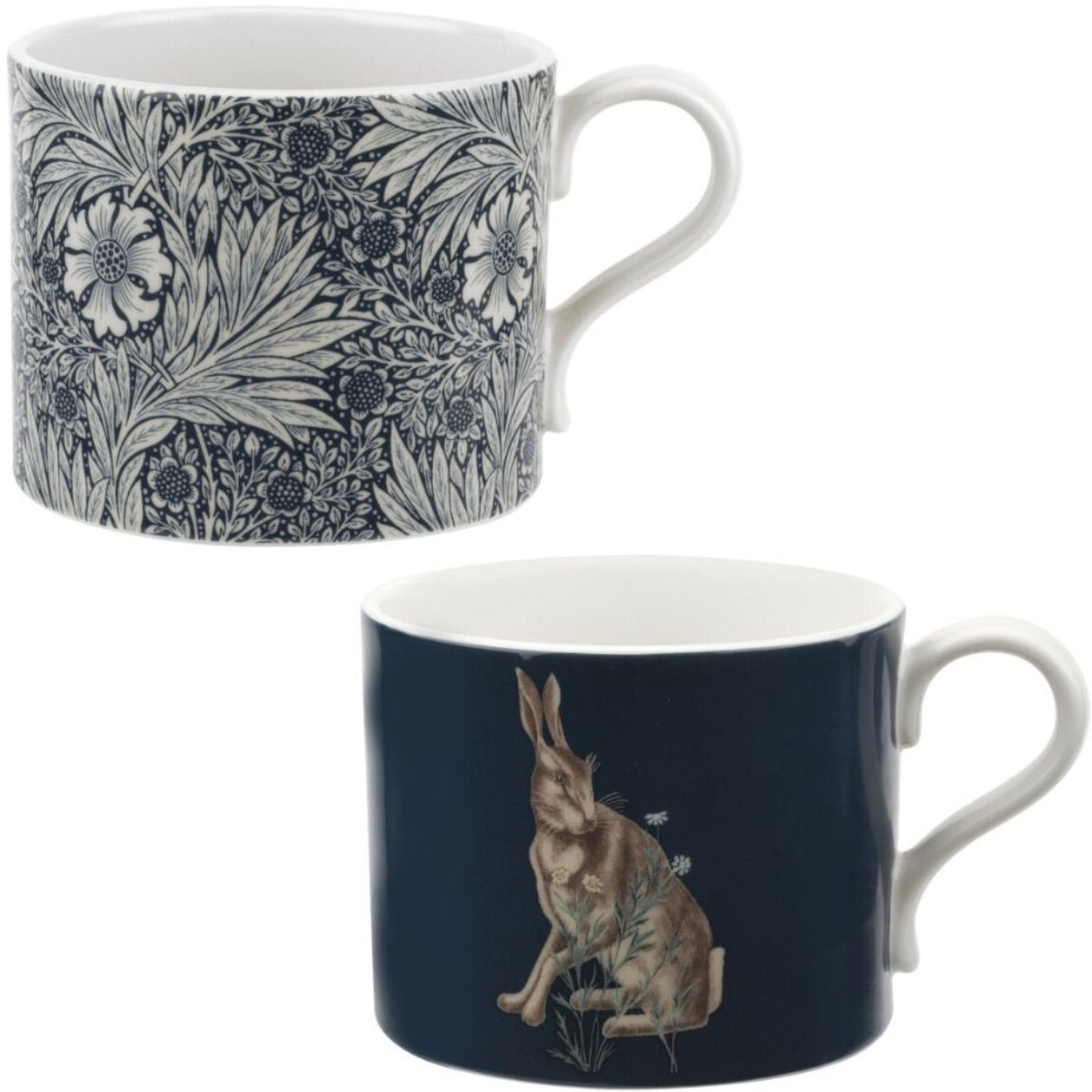 Morris & Co. Set of 2 Mugs - Marigold and Hare