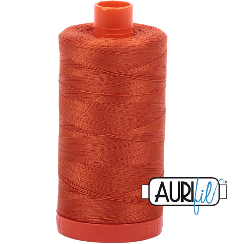 Aurifil Cotton 50wt Thread - 1300 mt - 2240 - Rusty Orange
