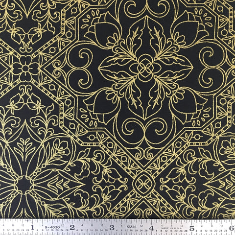 Rejoice Metallic - Trellis - Black