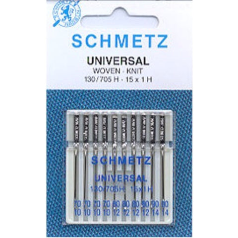 Universal Sewing Machine Needles - 70/10, 80/12, 90/14
