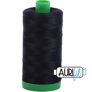 Aurifil Cotton 40wt Thread - 1000 mt - 2692 - Blck