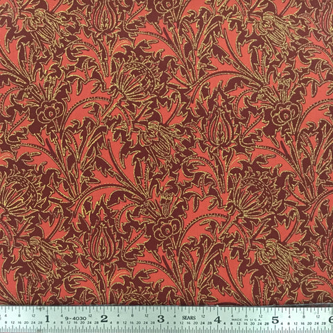 "Morris Holiday Metallic - 108"" Backing - Crimson"
