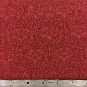"Morris Garden - 108"" Backing - Crimson"