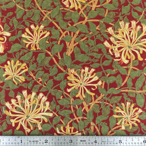 May Morris Studio - Honeysuckle - Crimson