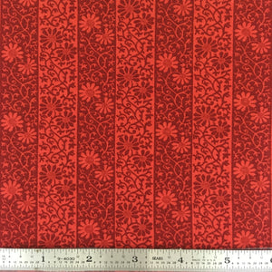 May Morris Studio - Stripe - Crimson