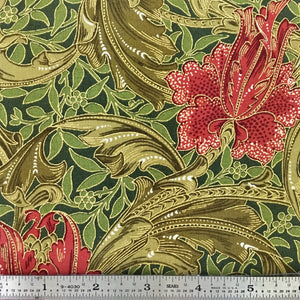 Morris Holiday Metallic - Flower - Pine
