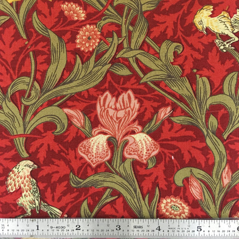 May Morris Studio - Iris - Crimson