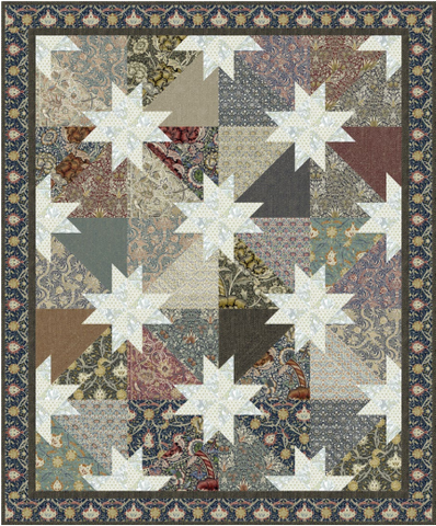 "Southern Stars - Quilt Top Kit - 50"" x 68"" - Intermediate"