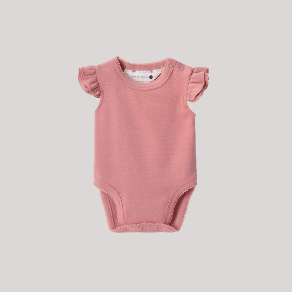 Organic Flutter Suit - Pink Clay