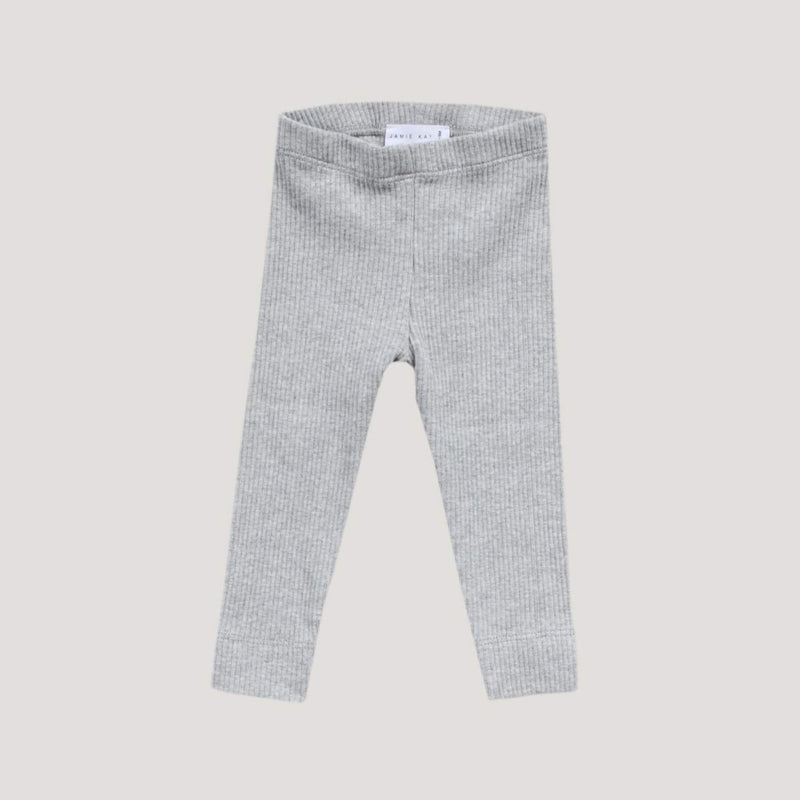 Cotton Modal Legging - Light Grey Marle