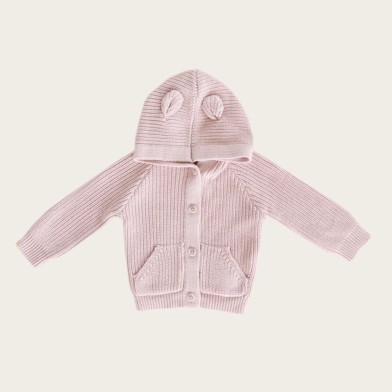 Bear Cardigan - Old Rose