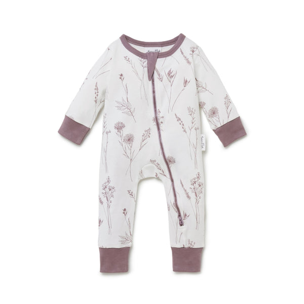 Wildflower Zip Romper - Cloud Dancer