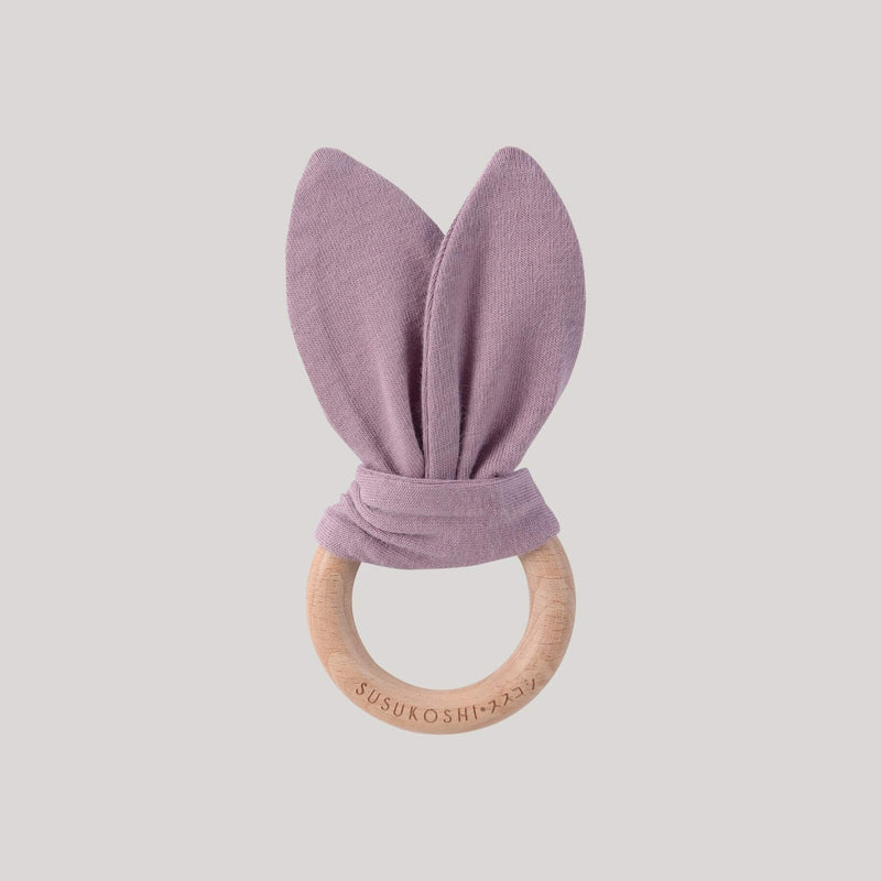 Organic Bunny Teether Toy - Periwinkle