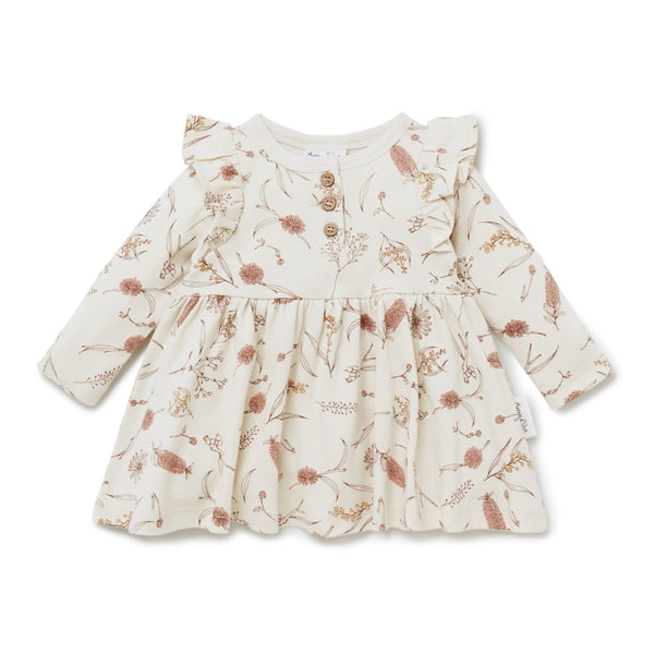 Native Flora Skater Dress - Antique White