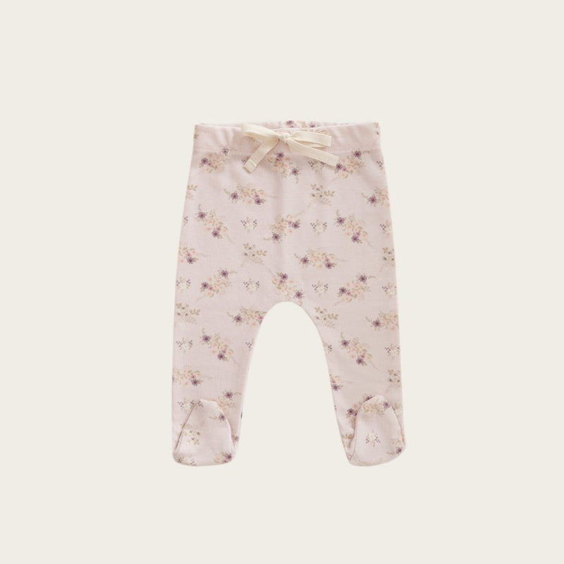 Footed Pant - Sweet Pea Floral