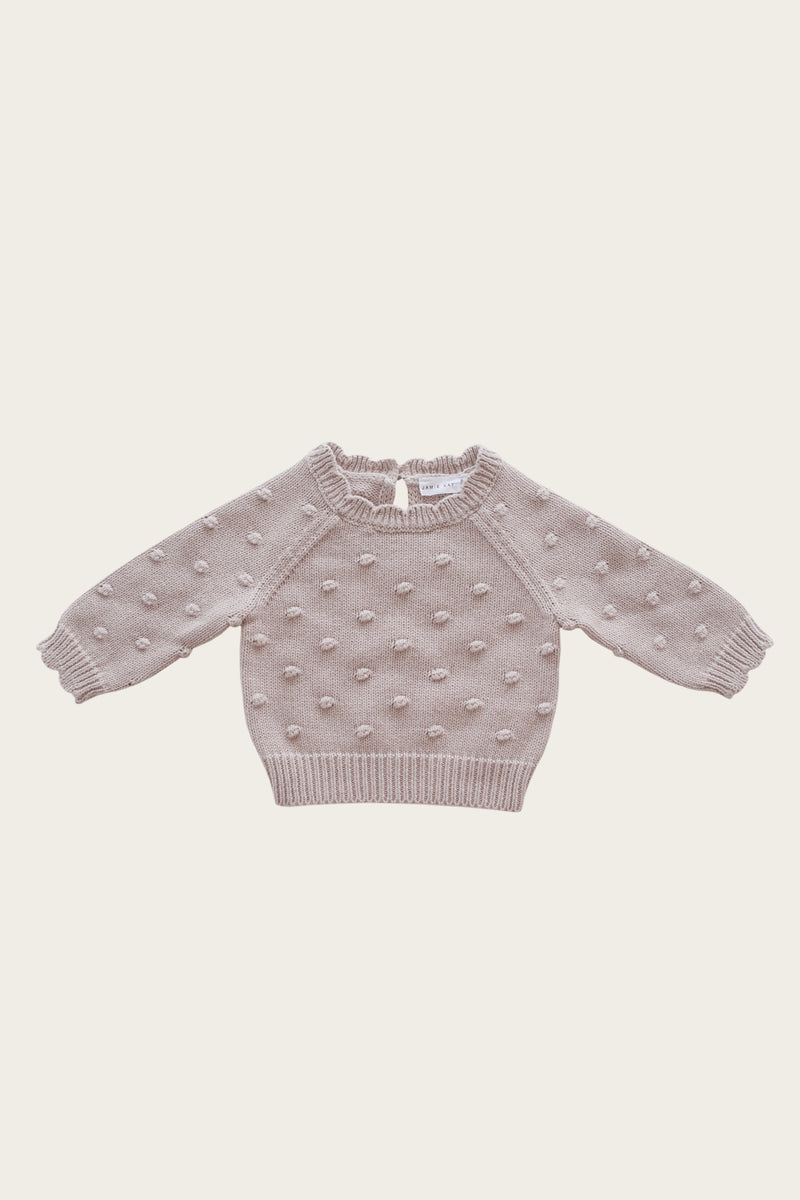 Dotty Knit - Rosebud