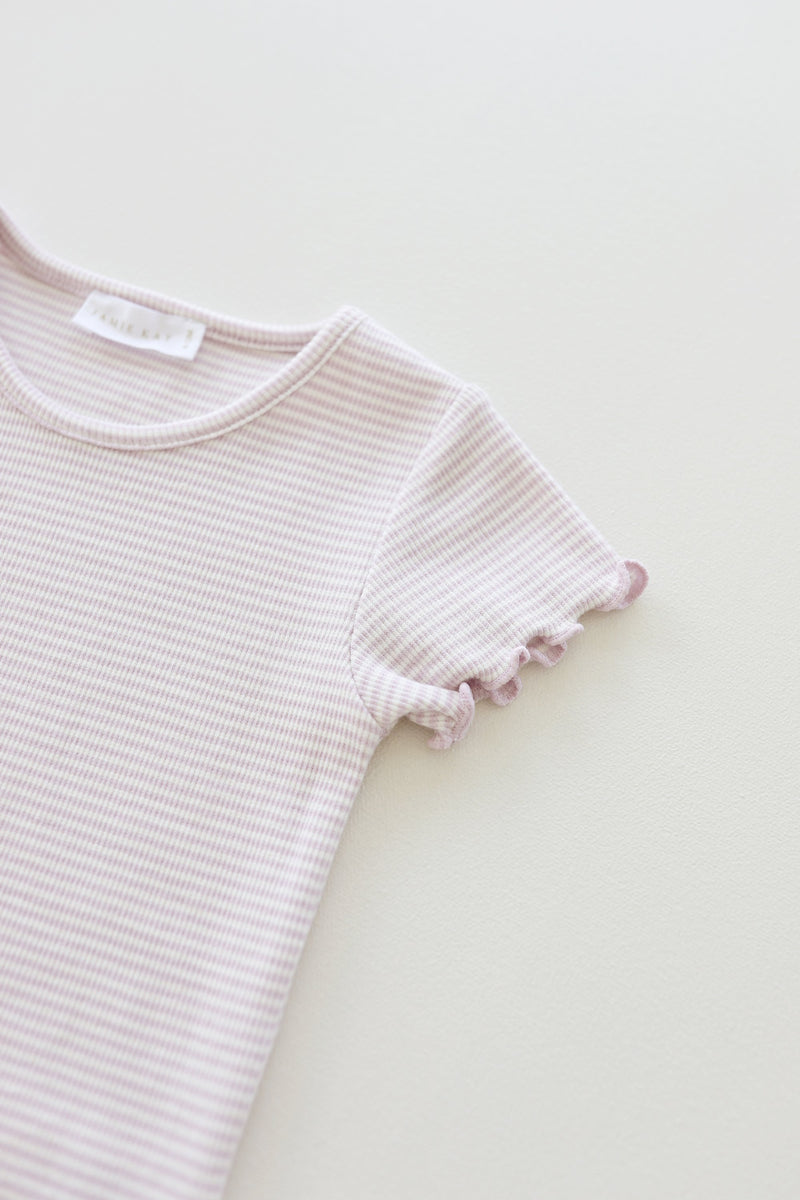 Lily Tee - Lavender Stripe
