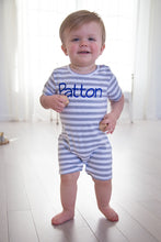 Load image into Gallery viewer, Boys Short Sleeve Knit Romper