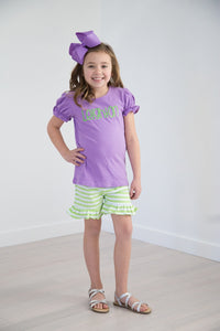Girls Knit Ruffled Shorties