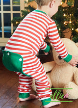 Load image into Gallery viewer, Holly Jolly One-Piece Jammies - Red Stripe