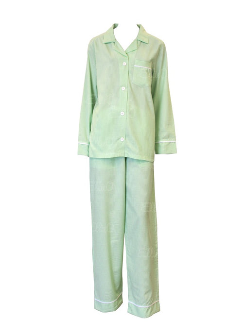Green Seersucker Pajamas Pant Set