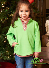 Load image into Gallery viewer, Youth Miller Pullover Green/Red Gingham