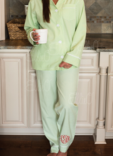 Load image into Gallery viewer, Women's green Seersucker Lounge Pant set